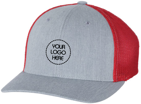 Fitted With R-Flex Hat- Grey Front