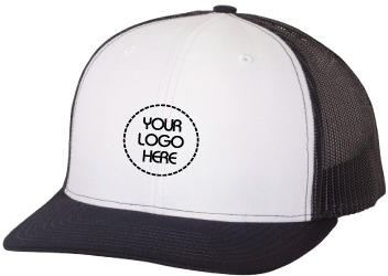 87cad9fb Fast Custom Embroidery | Flat Bill Snapback Trucker Cap | White Front