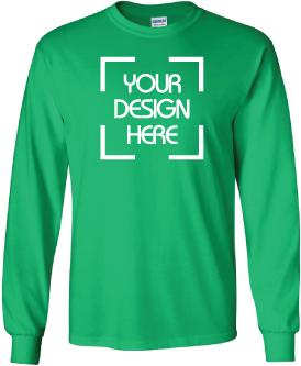 107a9ec3e3ac Design Online Cheap Custom Printed Gildan Ultra Cotton Long Sleeve T ...