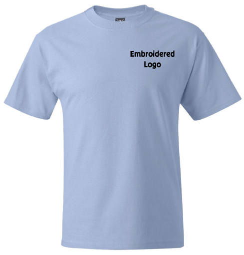 Custom emboridered t shirts design embroidered