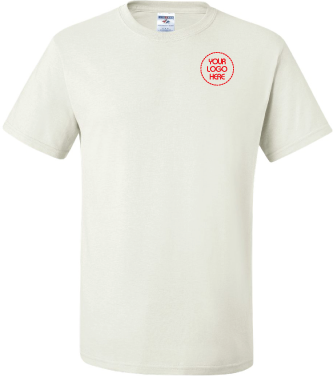 Embroidered 50/50 T-Shirt