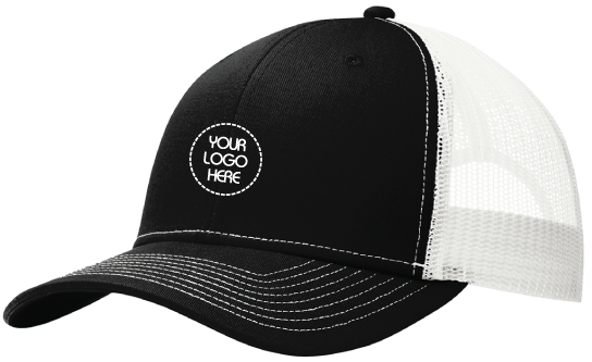 Black Front Trucker Cap