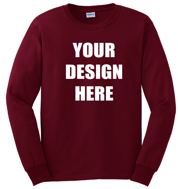 330667dc1ad3 Long Sleeve Shirts - Custom Printed Long Sleeve Shirts - Create Your Own  Online