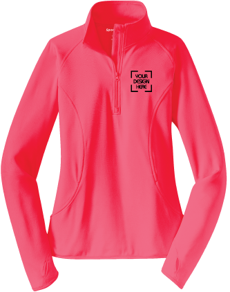 Ladies Half Zip Sport-Wick Stretch Pullover