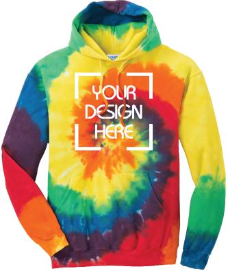 Rainbow Tie-Dyed Hoodie   Tie Dye Sweatshirt