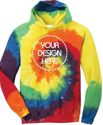 Youth Rainbow Tie-Dyed Hoodie   Tie Dye Sweatshirt