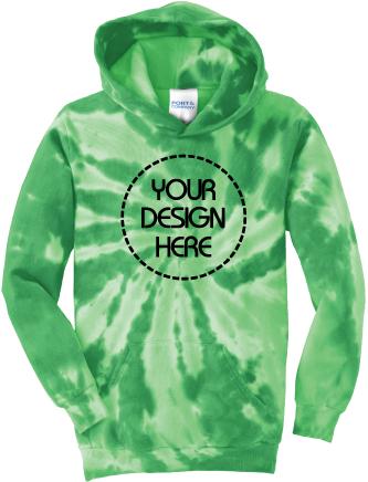 Youth Tie-Dyed Hoodie | Tie Dye Sweatshirt