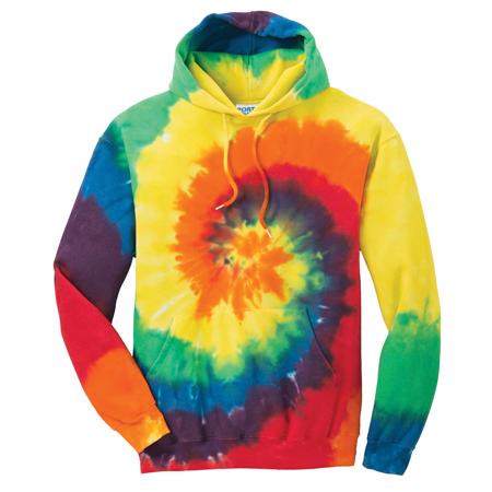 ae0056026cb Design Online Custom Printed Port   Company Tie-Dye Rainbow Hoodie ...