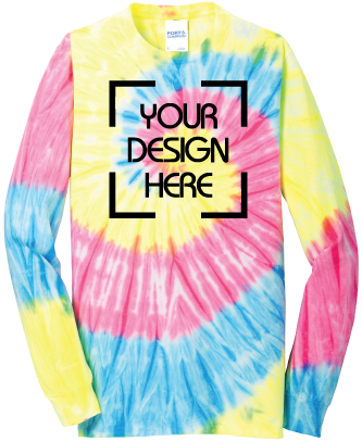 Neon Rainbow Tie-Dyed Long Sleeve Shirt