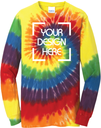 Rainbow Tie-Dyed Long Sleeve Shirt