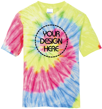 Youth Neon Rainbow Tie-Dyed T-Shirt