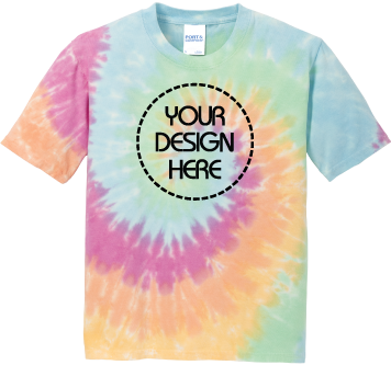 Youth Pastel Rainbow Tie-Dyed T-Shirt