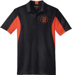 Moisture Wicking Colorblock Polo Shirt - Black Body